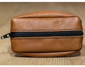 Light brown leather wallet