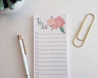 To Do List Notepad with Heirloom Floral Design