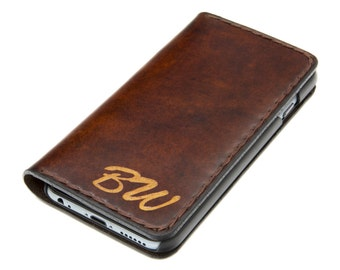 iPhone 6 Leather Wallet Case / iPhone 6 Leather Wallet / iPhone 6 Leather Case / Free Monogram Engraving / Personalized Gift