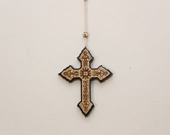 Wood cross art