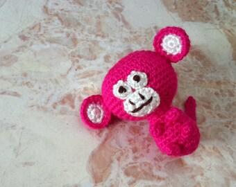 APE amigurumi, jungle peu animaux jouets, doudou singe
