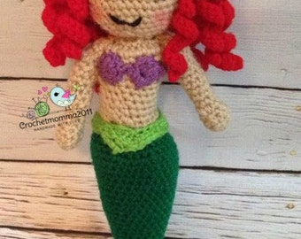 Crochet Little Mermaid Doll, Handmade, made to order, customized, Birthday gift, baby shower Gift, Easter