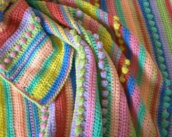 Crochet Blanket Pattern - PDF Crochet Baby Blanket Pattern - Llian Baby Blanket