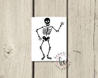 Skeleton Body Vinyl Decal
