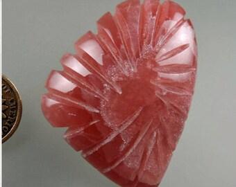 Inca Rose Rhodochrosite Fluted Cabochon, Inca Rose Rhodochrosite, Rhodochrosite Cabochon, Pendant Cab, Gift Cab, C1625, 49erMinerals