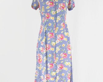 Vintage Carol Anderson Petites Women's Floral Dress Made in USA