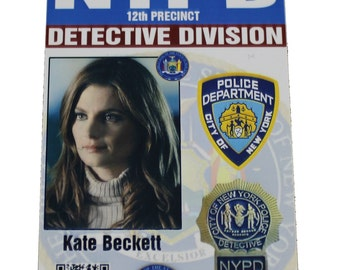 Castle Kate Beckett Prop ID Badge