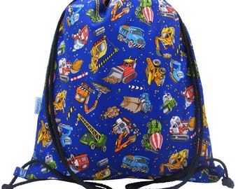 Blue Diggers Waterproof Backpack, Swim Bag, PE Bag, Drawstring Bag, Kids, Boys