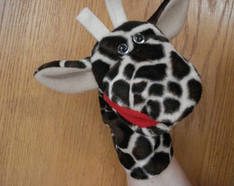 Giraffe Hand Puppet from Puppets by Margie