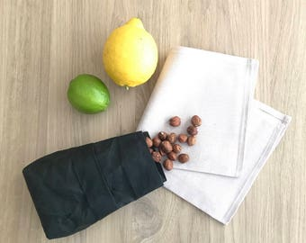 Reusable Food Bags, Bulk Bin Bags, Washable Paper Bags, Snack Sack, Reusable Food Pouch, Produce Bag, Environmentally Friendly
