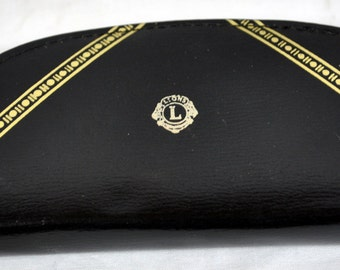 Vintage Lions Club Leather Sewing or Travel Kit - Made in Austria
