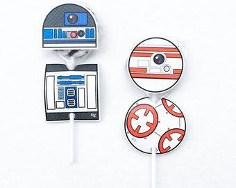 Star Battles. Droid Lollipop Cutouts. DIGITAL DOWNLOAD. DiY Printable Design. Pinkadot Shop