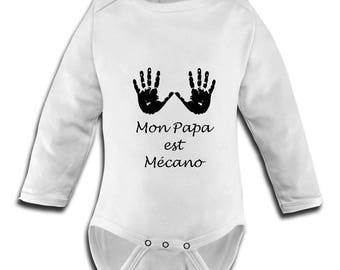 fitted body suit with picture my dad's mechanic