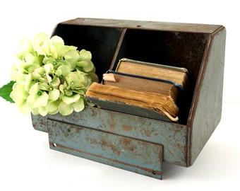 Vintage Metal Parts Bin by ACME Steel (c.1950s) - Unique Storage Box, Home Decor, Office Decor