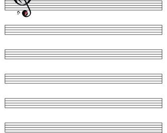 Music Sheet Guest Book Print