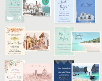 PRINTED PAPER PACK - Premium Wedding Invitations Samples from A la Carte Paperie