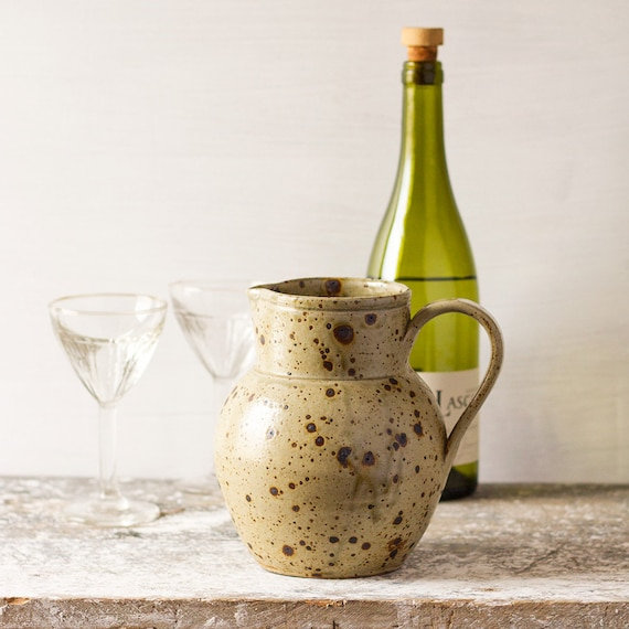 RESERVED - Provencal Earthenware Wine Pitcher