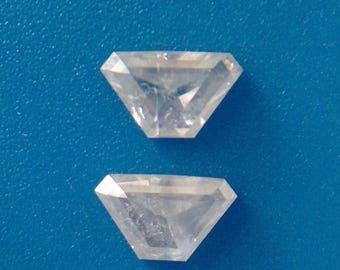 natural milky pair diamond