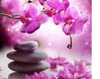 Kit embroidery full diamond - orchid - Art Collection