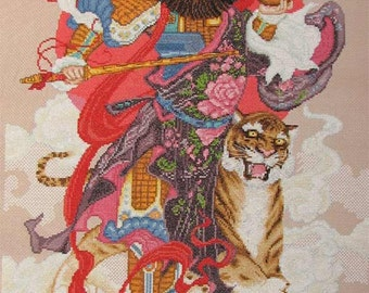 New Finished Completed Cross Stitch - God of Wealth -