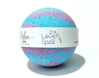 Love Spell Bath Bomb, Fizzy, Bath, Spa, Gift BUY 3 Get 4th for Free