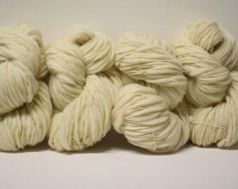 Merino Thick and Thin Yarn Bulky Hand Spun Wool Slub  Hand Dyed tts(tm) Banana 000x