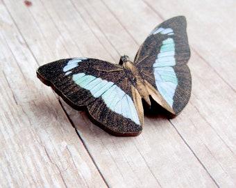 Blue Woodland Butterfly Brooch