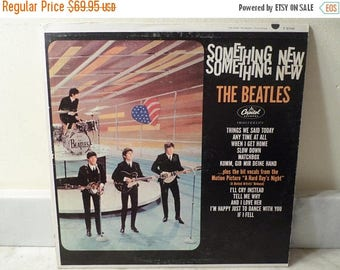 Vintage 1964 LP Record The Beatles Something New Capitol Records T-2108 Mono Very Good Condition 14788