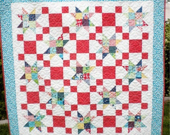 Bucket List Patchwork Quilt PDF Pattern