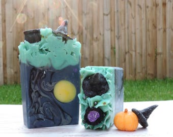 Moon Magic | Witch Soap | XL Size | Oak Moss & Patchouli | Handcrafted Artisan Soap | Limited Edition | Luxury Soap | Home Decor | Novelty