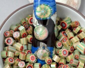 Murrini Chips, COE 104, Honey Swirl,  Lampwork Supplies, Enameling Supply, Flamework, Murrine, Milli, Hot Glass Supply, Murrini Slices,
