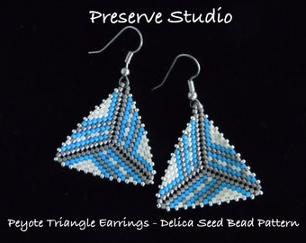 Stripes Peyote Triangle Delica Seed Bead Pattern #2
