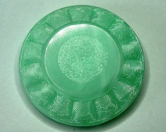 Large Czech Glass Button 41mm - ocean green (B41012)