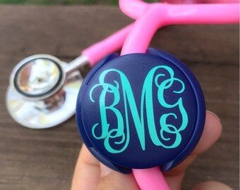 ON SALE Nurse Stethoscope Name Tag Nurse Gift Stethoscope Accessories Monogram Stethoscope ID tag Nurse Accessories Pinning Gift Doctor Gift