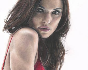 Colored Pencil Drawing Print of Rachel Weisz