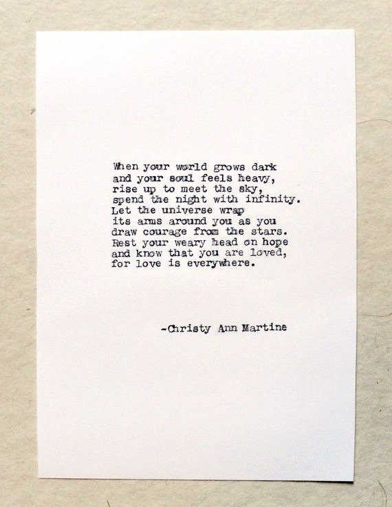 Poetry - Quotes About Being Lonely - Love - The Universe - Literary Gifts