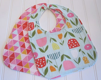SWEET NATURALS/Organic Line/Baby Bib/Infant--18 mo./Set of Two Bibs/Juicy/Organic Fleece Back