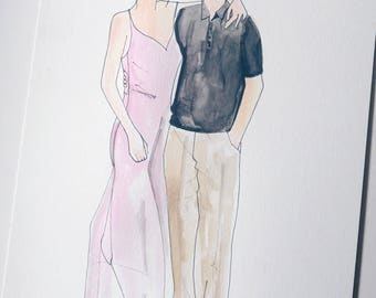 Couple illustration (non bridal)