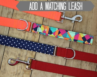 Add a Matching Leash   Your Choice of Any Fabric in the Shop   Utility Dog Leash   Nylon Dog Leash