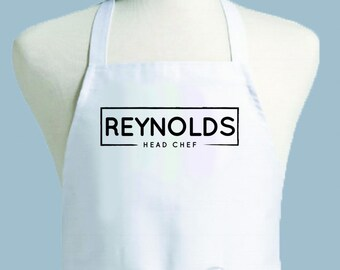 Custom Apron, Personalized Apron, Mens Apron, Apron Men, Chef Apron, Apron, monogrammed apron, guy gift, kitchen apron, foodie gift