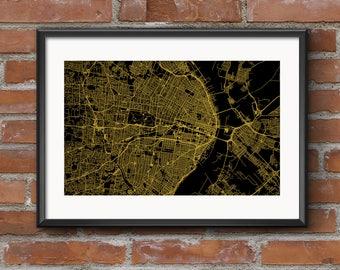 St Louis Map Art Print –Golden // St Louis Poster | St Louis Art | St Louis Print // Free Shipping