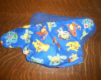 Full One Size Pokemon Pocket Diaper
