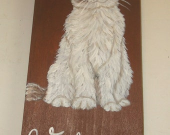 Ragdoll Cat Hand Painted Welcome Sign Plaque Home decor Wall decor