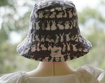 Bunny bucket hat, size 1