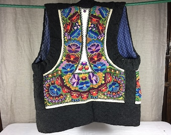 Hungarian or Roumanian hand embroidered vest