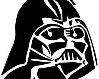 Darth Vader decal, Sticker, Vinyl decal for tumbler, water bottle, etc decoration, Star Wars
