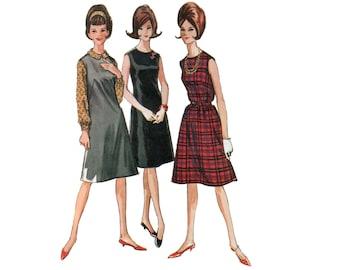des années 60 a-ligne robe motif vente pull robe vintage 38-30-40 ceinturée robe motif robe bain de soleil modèle buste 38 McCalls 6959