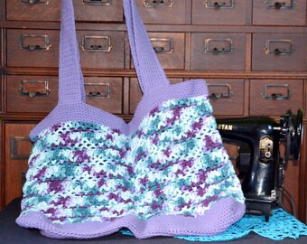 Purple and Teal Varigated Beach Bag