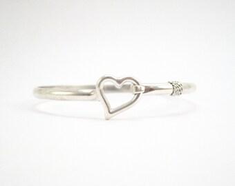 Cape Cod Heart Bracelet- Silver