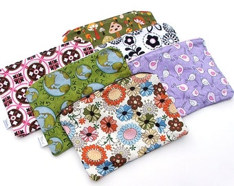 """MADE TO ORDER - Wee Wet Bag small waterproof pouch for your purse or diaper bag - 5"""" X 7"""" or 8"""" by 8"""" wetbag"""